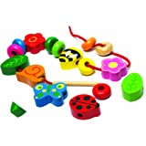 Tidlo Wooden Nature Lacing Beads Set