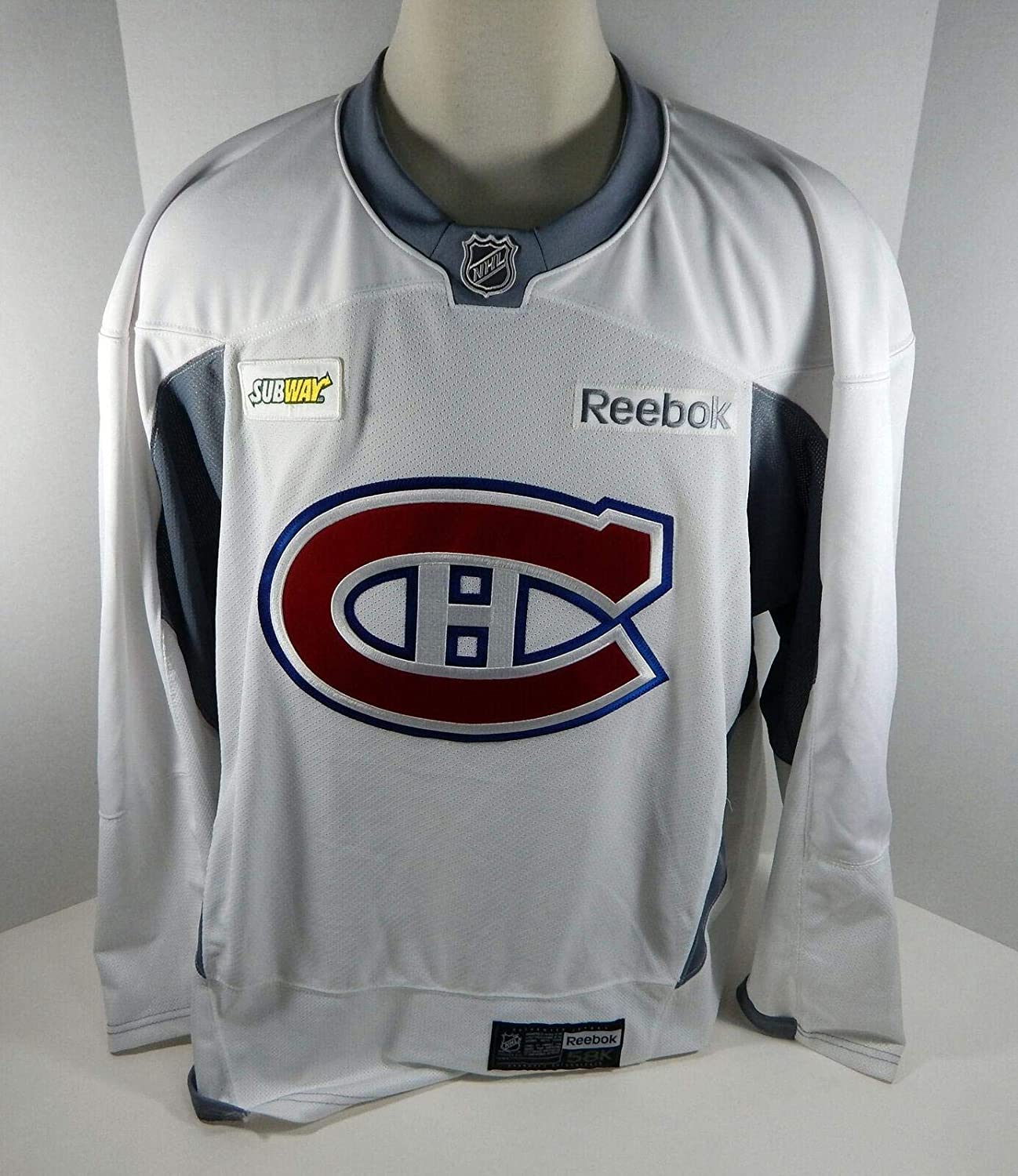 wholesale dealer 12c65 9e91d Montreal Canadiens Game Issued White Practice Jersey MTL0069 ...
