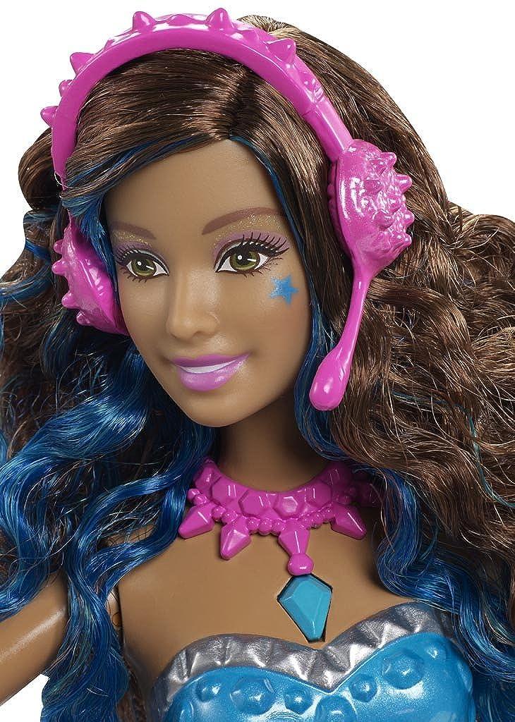 Barbie Chicas Princesa Erika Rockstar con guitarra - Azul