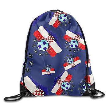 DGsg1 Bolsa de fútbol 2018 Croacia, unisex, ligera, mochila deportiva con cordón.: Amazon.es: Hogar
