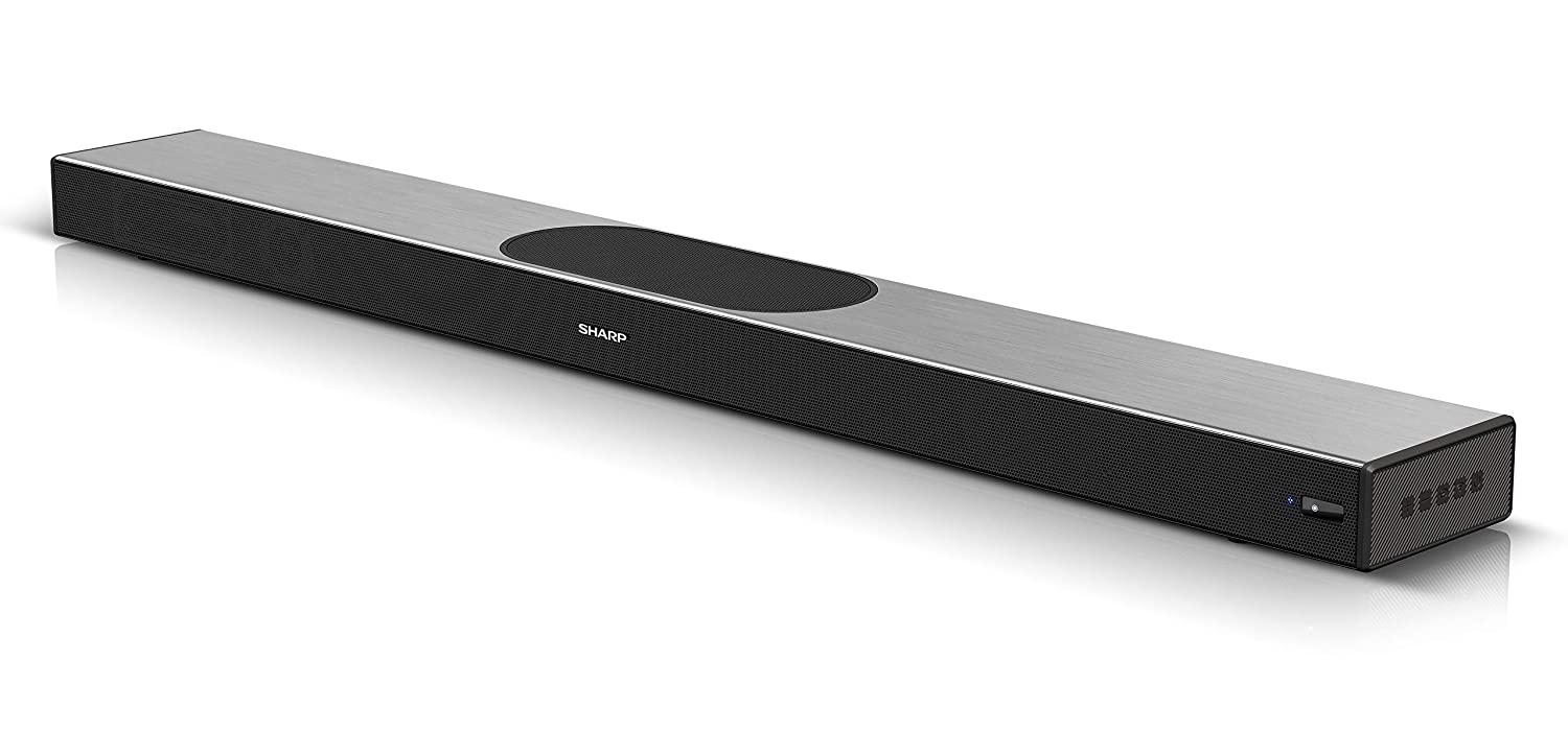 Sharp HT-SBW420 Bluetooth Silver HDMI ARC//CEC /& Remote Control GR 4K Ultra HD Pass-through 220W 2.1 All-In-One Wi-Fi Multi-room Soundbar with Built-in Subwoofers