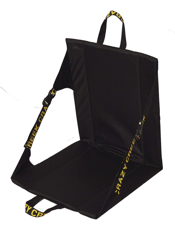 Crazy Creek LongBack Chair Black w Yellow