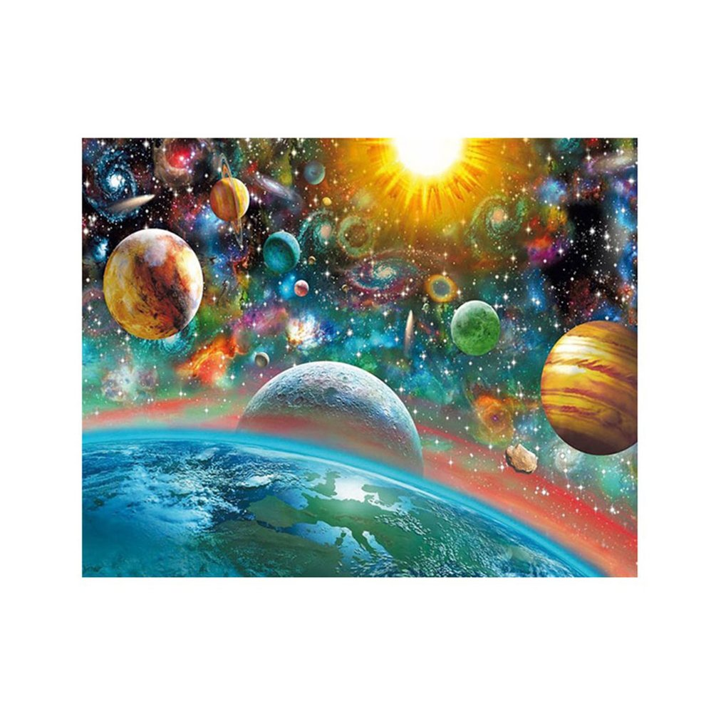 bismarckbeer Planets 5D Diamond Painting Kits Full Drill DIY Rhinestone Pasted Embroidery Cross Stitch Arts Craft