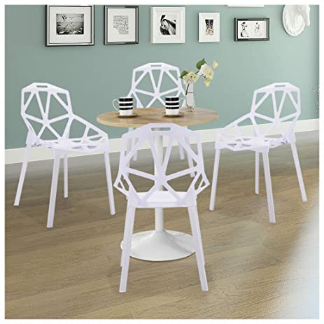 Merveilleux Set Of 4 Hollow Out Geometric Style Chair, Stack Chairs ,Modern Dining  Chairs