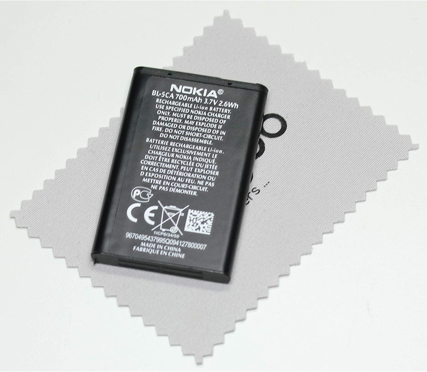 1200 1680C Liion mungoo screen cleaning cloth 1112 1111 1208 Battery for Nokia Genuine BL-5CA for Nokia 1110 1209
