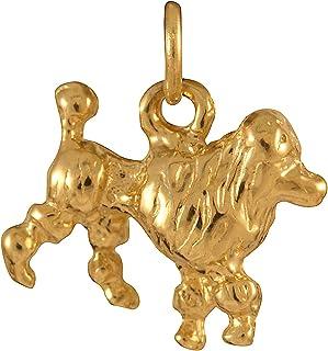 Charm Sayers London in oro giallo 9kt a forma di elegante cane di razza barboncino jewellerybox Y03V-9
