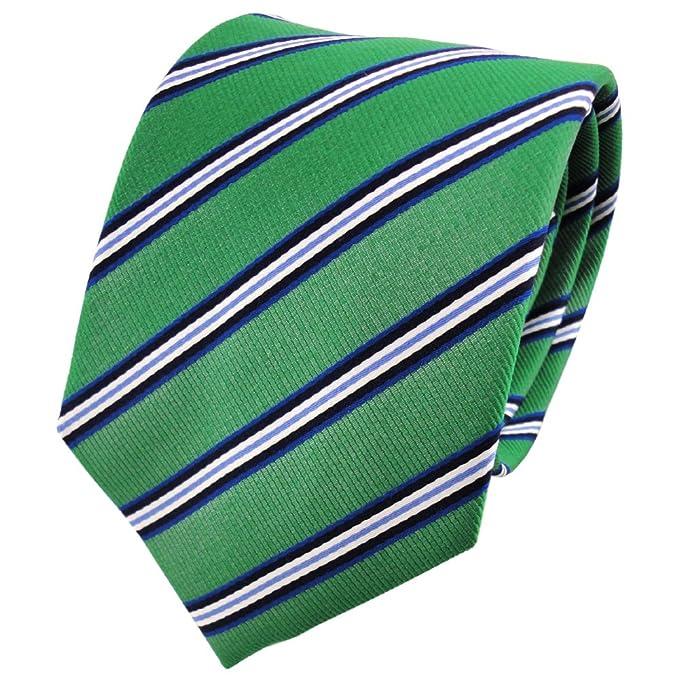 TigerTie diseñador corbata de seda - verde esmeralda azul negro ...
