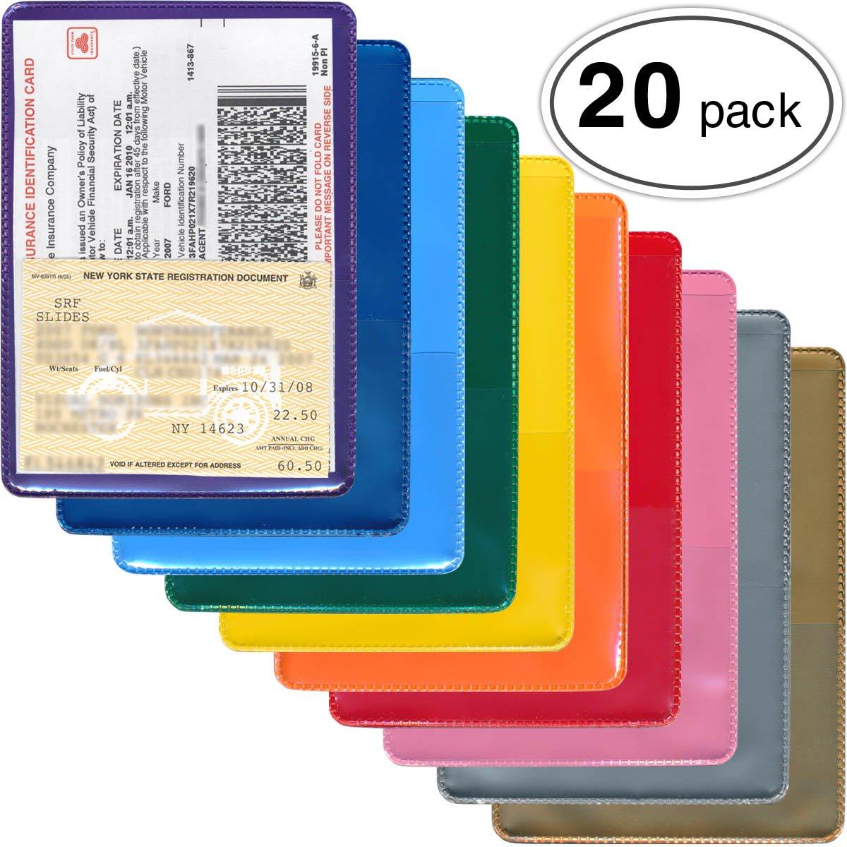 StoreSMART - Auto Insurance & ID Card Holders - Variety 20-Pack - RFS20VP-2
