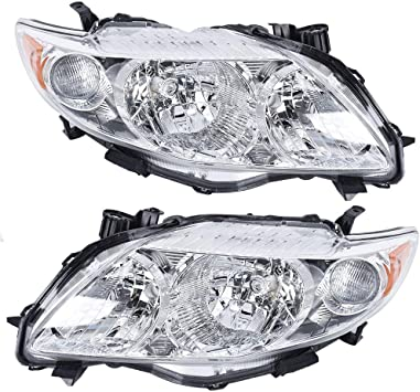 AUTOSAVER88 Headlight Assembly Compatible with 2009 2010 Toyota ...