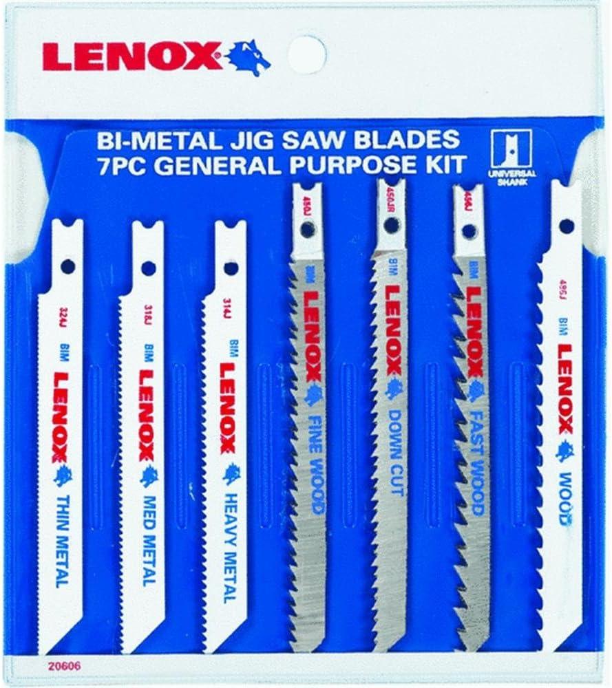 Lenox 7pc Jigsaw Blade Set 20606-U743JA New!