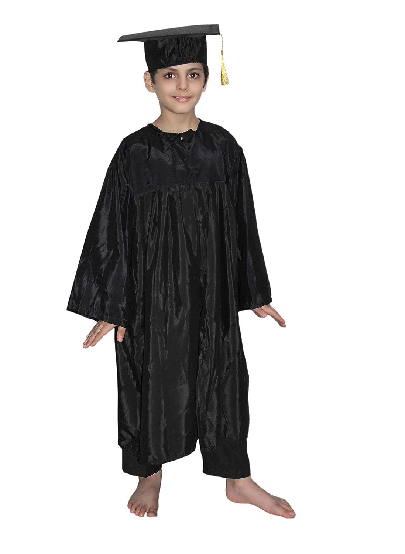 700981f35f9 Buy Kaku Fancy Dresses Kid s Polyester Graduation Gown (Black