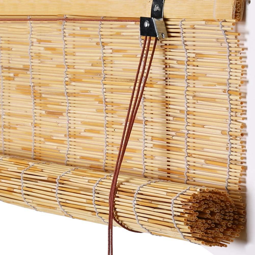 GDMING-Persiana De Bambú Persianas Venecianas Roller Blind Bamboo Protector Solar Semi-sombreado Ventana Puerta A Prueba De Polvo Fácil De Instalar Tamaño Personalizado