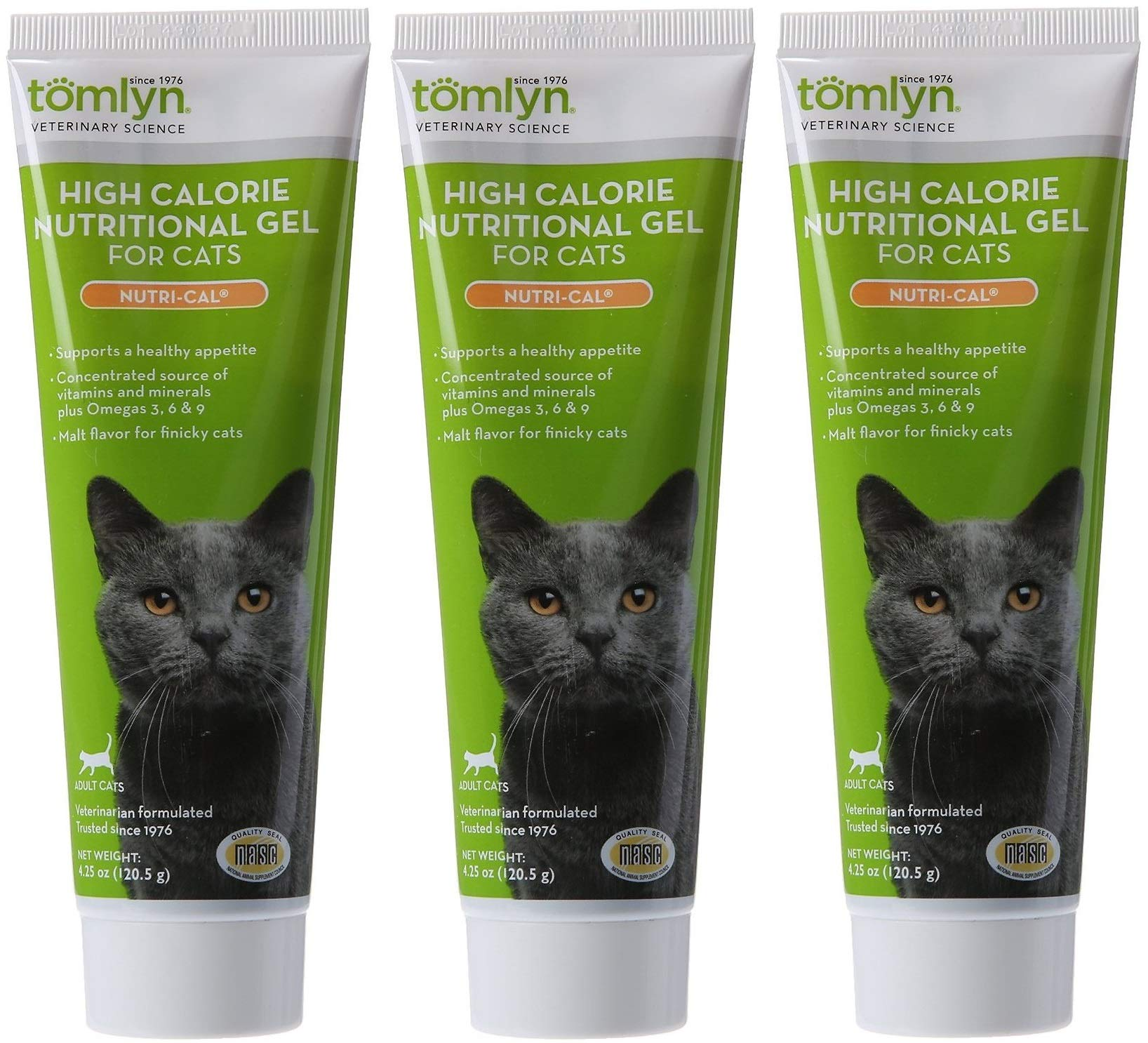 Tomlyn 3 Pack of Nutri-Cal, 4.25 Ounces each, High Calorie Nutritional Gel for Cats by OKThings