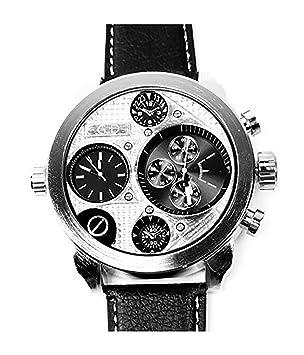 Evil Wear XXL Relojes Hombre UBoot Reloj de plata German Designer Watch alta calidad Mundo Viaje