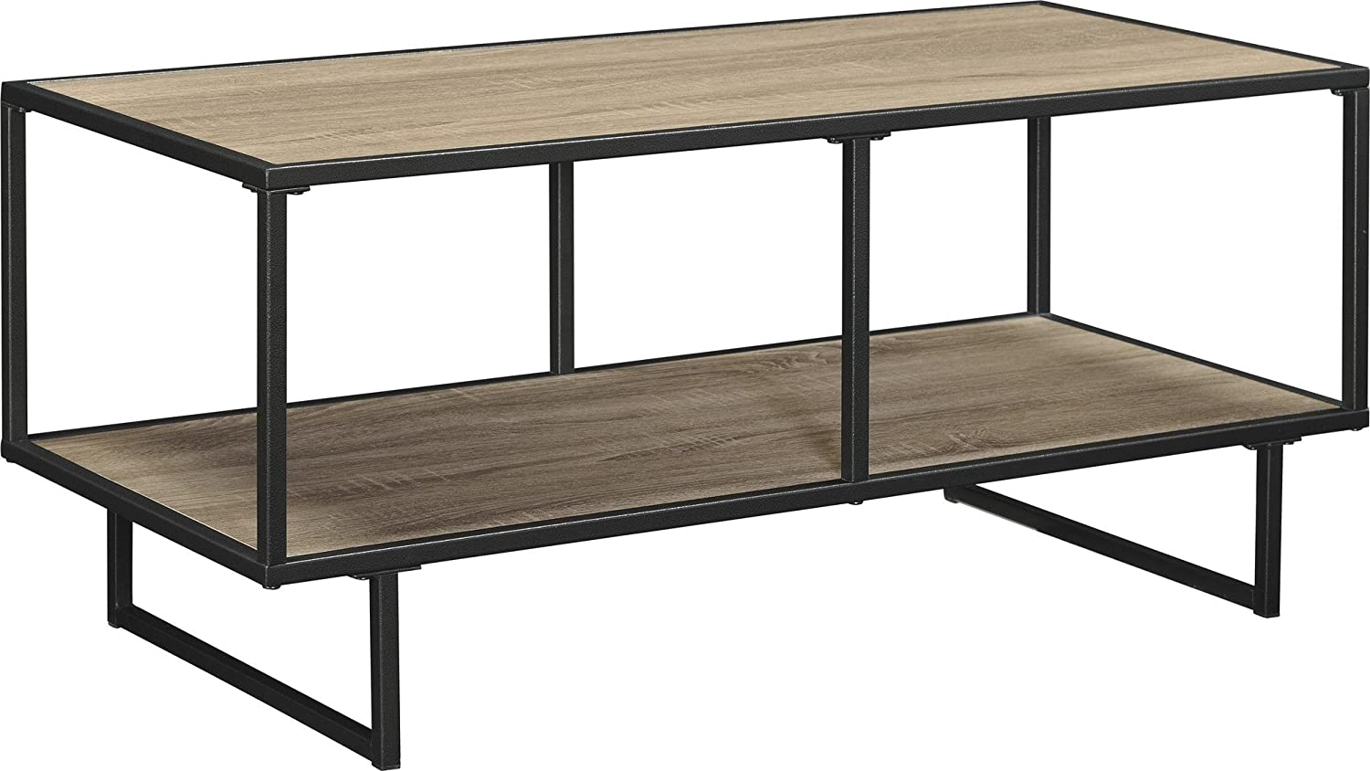 Ameriwood Home Emmett TV Stand Coffee Table for TVs up to 42 wide, Weathered Oak