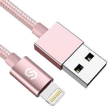 Syncwire Cable Cargador de iPhone Cable Lightning - [Certificado Apple MFi] 1M Nylon Trenzado Especial Cable iPhone Carga Rápida para iPhone XS MAX XR ...