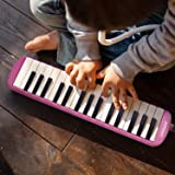 ammoon Melodica 32 Keys Piano Instrument with Carry Case for Music Lovers Beginners Kids - Pink