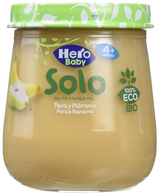 Hero Solo Tarrito Fruta Pera Plátano ECO - 120 gr