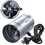 "Yescom 4"" Inline Duct Booster Exhaust Fan Aluminum Blade Ventilation Air Blower"