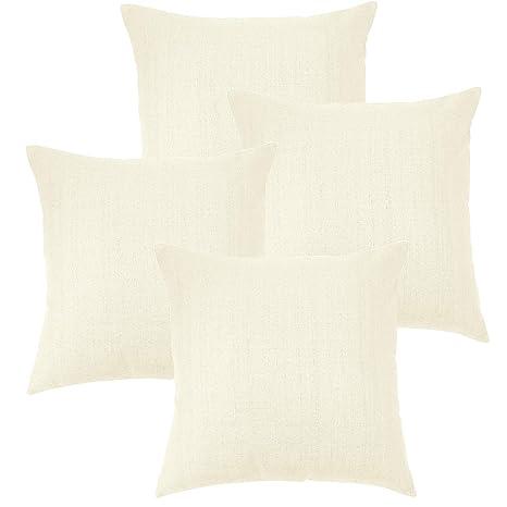 MRNIU cojines decoracion 45 x 45 Blanco oscuro cojines sofas fundas de cojin fundas de almohadas Funda de almohada con cremallera invisible, sin ...