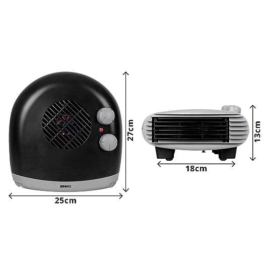 Duronic FH24K Calefactor de Aire Caliente Eléctrico Bajo Consumo con Termostato Regulable Potencia de 2400W, 2 velocidades y Ventilador Frío: Amazon.es: ...