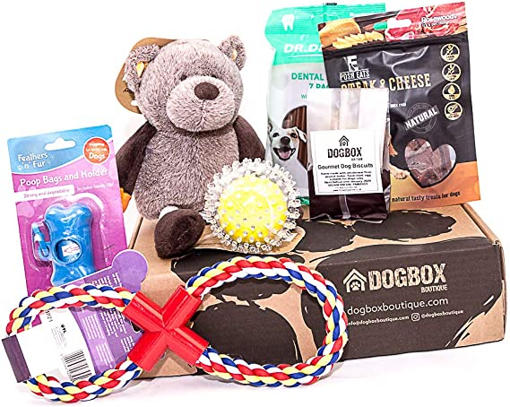 Dogbox Boutique The Original Dog Gifts Box Doggy Hamper – Birthday Gift Dogs
