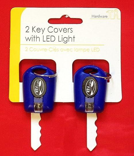 2 x azul llavero Carcasa para llaves con LED Linterna para ...