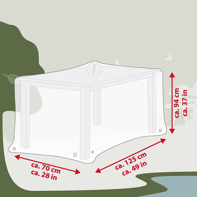 125x70x94cm Ultranatura Fodera Protettiva in Tessuto per Tavolo da Giardino Quadrato Fodera Protettiva Contro Le intemperie angolare