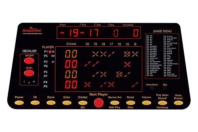 Fresh Arachnid Cricketpro 800 Electronic Dartboard with Cabinet