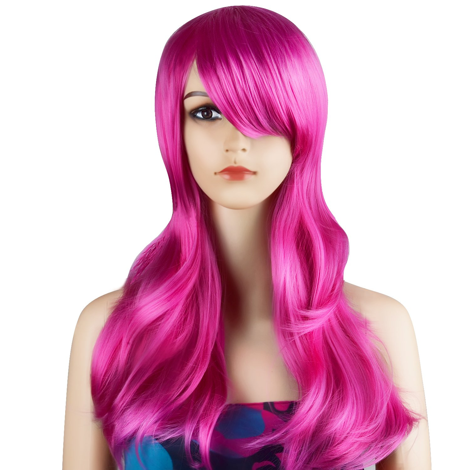 Amazon Com Ecvtop Wigs 28 Inch Wavy Curly Cosplay Wig