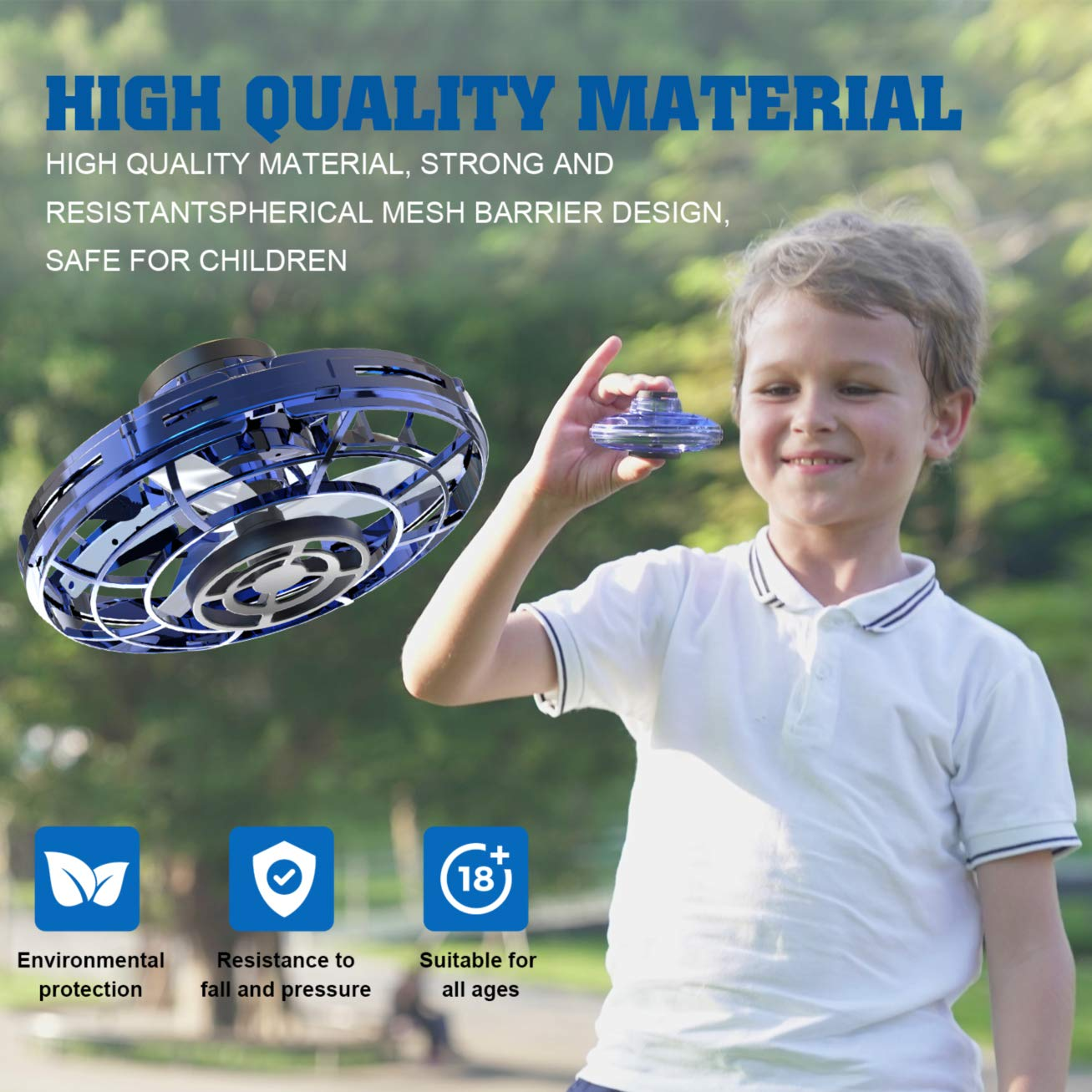 Mini UFO Drone Flying Toy Hand Controlled Helicopter for Kids Adults with 360/° Rotating and Shinning LED Lights Red CMBro UFO Flying Toy