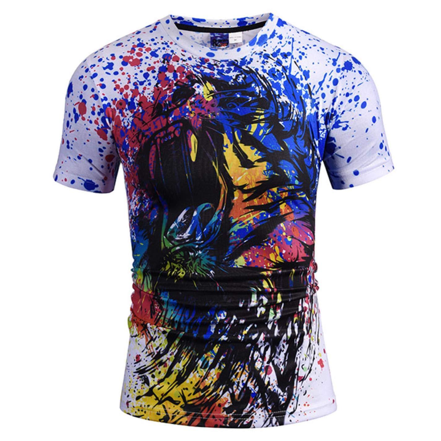T-Shirt Men//Women 3D T-Shirts Digital Printing Paint Lion Tees Tops T Shirts