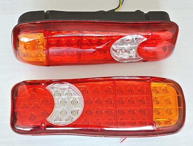 1 opinioni per 2X LED Fanale Posteriore Recupero Luci 24V Per Camion Pianale Telaio Camion