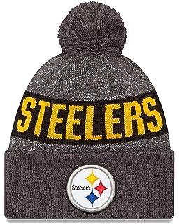 63edd6aaf New Era Youth Pittsburgh Steelers Graphite Sport Knit NFL 2018 Beanie  Unisex Hat