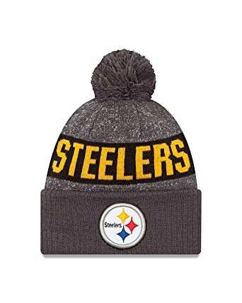 ada085cee6b Image Unavailable. Image not available for. Color  New Era Youth Pittsburgh  Steelers Graphite Sport Knit NFL 2018 Beanie ...