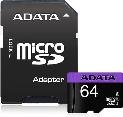 ADATA Micro SDXC 64GB - Tarjeta microSD de 64 GB, Negro: Adata ...