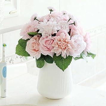 Superieur Bringsine Bridal Wedding Bouquet Flower Arrangement Home Decorative Flowers  Real Touch Silk Artificial Flowers  Rose