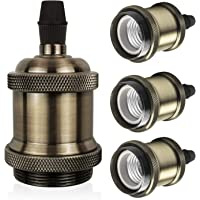 DiCUNO Vintage E26 Lamp Socket, Edison Retro Pendant Lamp Holder, Industrial and Decorative for DIY Lighting, 600℃ Heat…