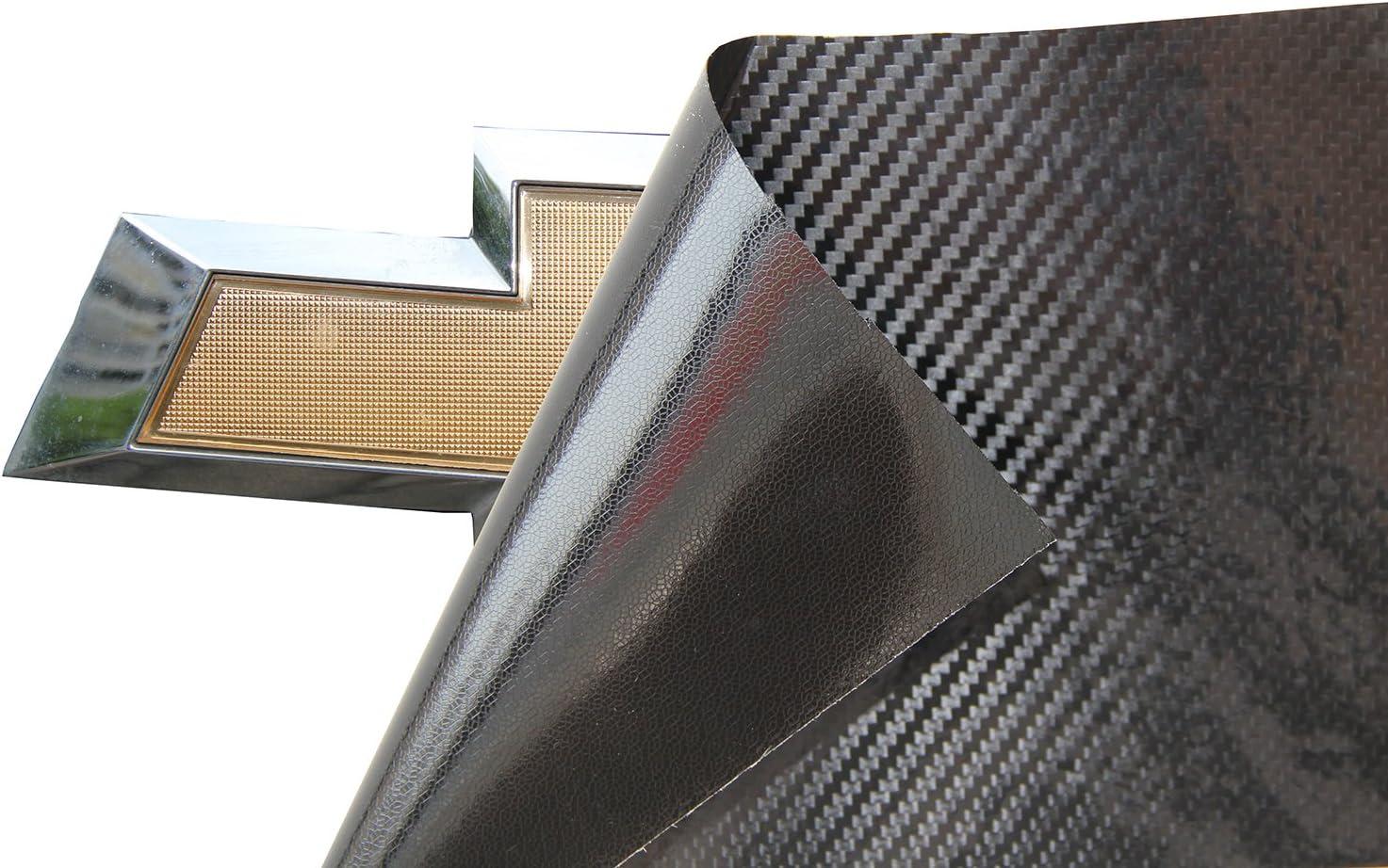 LZLRUN Bowtie Logo Wrap Sticker for Chevy Carbon Fiber Cut-Your-Own Emblem Overlay DIY Decal 4PCS