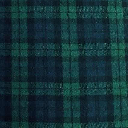 288968f539 Amazon.com  5 Yard Bolt Black Watch Plaid Flannel Cotton Fabric