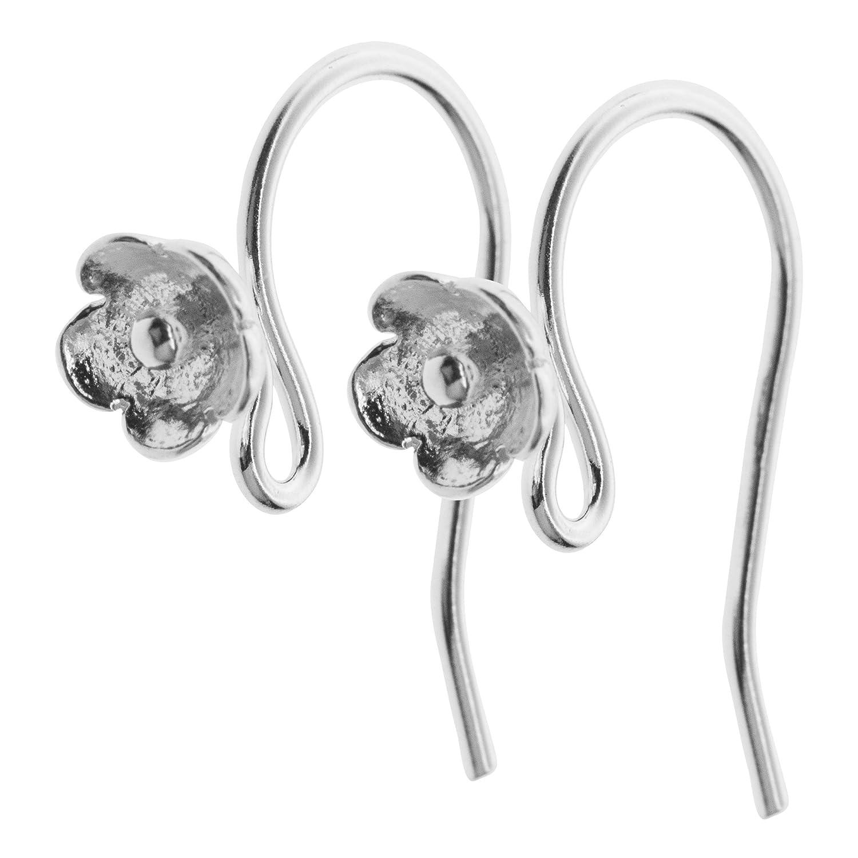 2 pcs 925 Sterling Silver Daisy Flower Earwire Interchangeable Dangle Earring Connector Hook Dreambell SE881WX2