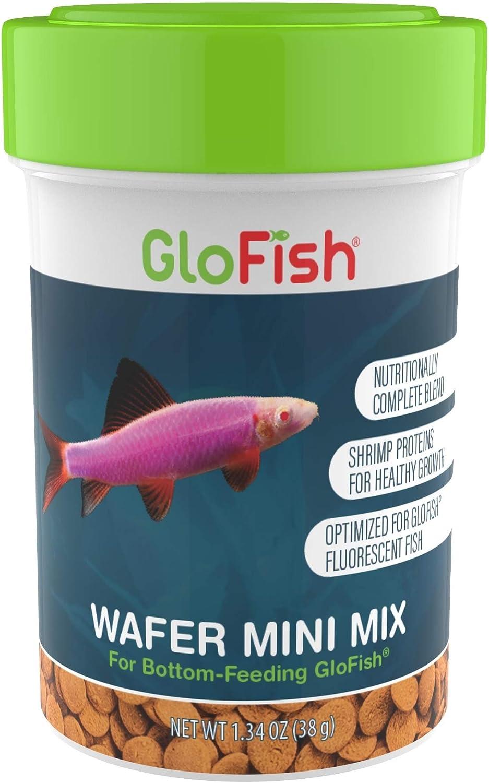GloFish Wafer Mini Mix Bottom-Feeding Fish Food, 1.34 oz. (972543)