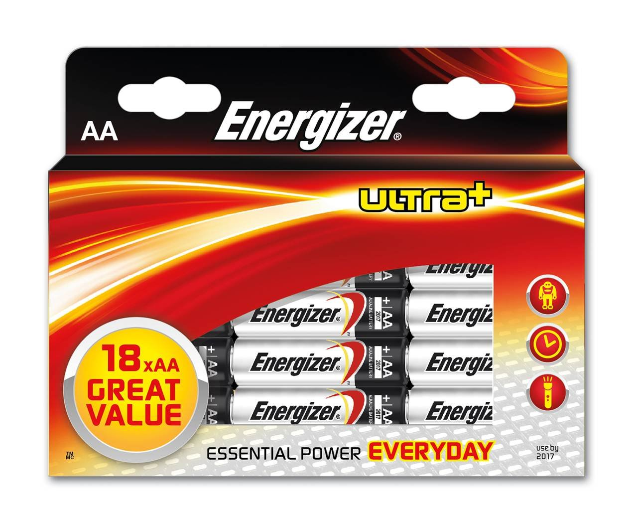 Energizer Ultra Plus Aa Batteries Pack Of 18 Health Arta Cutaway Diagram Show A Typical Alkaline Cell Or Battery With Personal Care