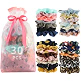 50 Pcs Premium Velvet Hair Scrunchies Hair Bands for Women or Girls Hair Accessories,Great halloween Thanksgiving day and Christmas
