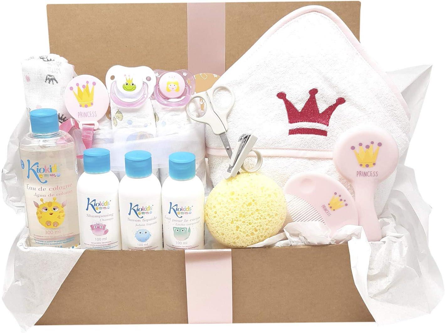 Canastilla reci/én nacido modelo Royal Bath Mababyshop Azul regalo original para recien nacido ideal como cesta de ba/ño beb/é