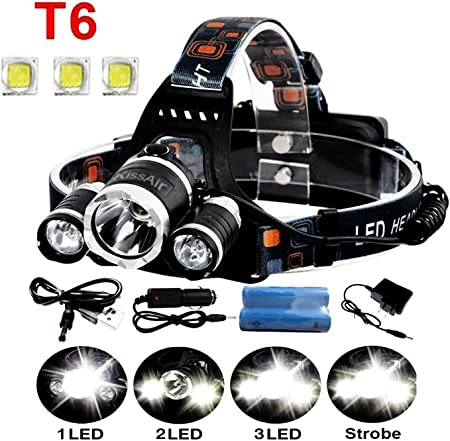 Outdoor Camping Hiking Bright 6 Pcs LED 3-Mode Headlamp Headlight Torch Hot