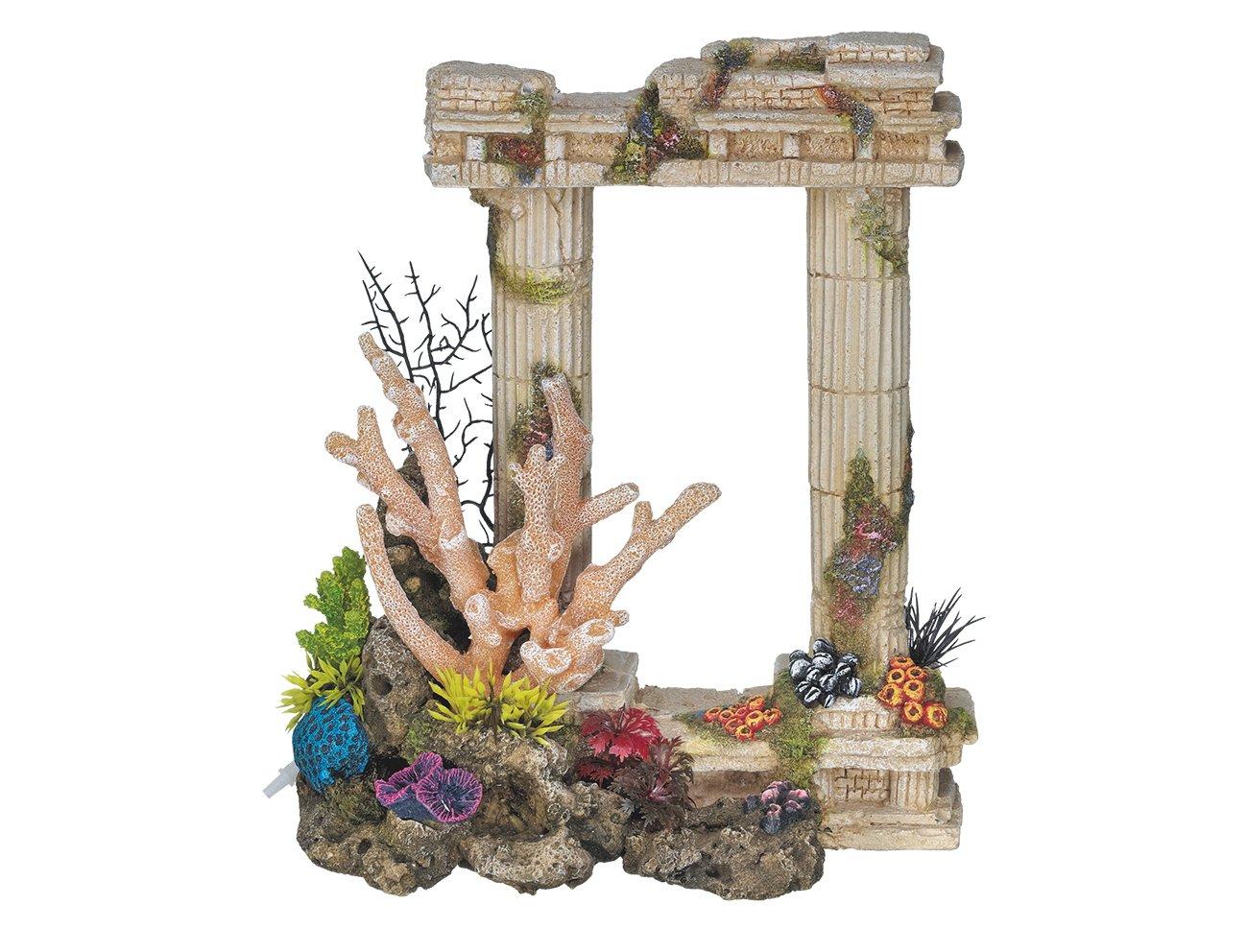 Nobby Columns With Corals Aquarium Ornaments, 25.5 x 13 x 29.5 cm