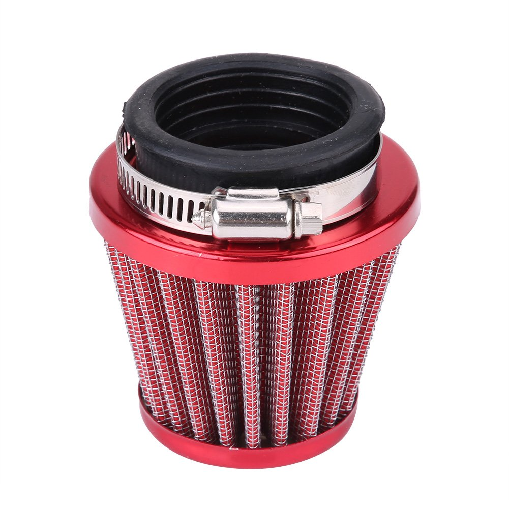 44mm Motorcycle Air Filter for Gy6 150cc ATV Quad 4 Wheeler Go Kart Buggy Scooter Moped (Red)