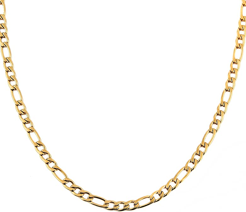 6x11mm 24 k Shiny Gold Plated Finished Chain Gold Plated Ready-Made Necklace Gold Plated Oval Chain Finished Necklace GLD816