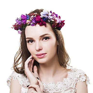 Flower Crown Bridal Headpiece Natural Wedding Hair Wreath Rustic Bridal  Shower Hair Greek Bridal Crown Bridal 78d2291b4b3